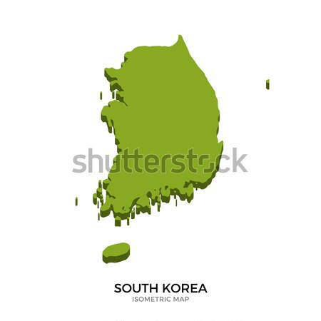 Isometric map of South Korea detailed vector illustration Stock photo © tkacchuk