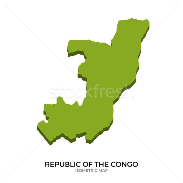 Mapa república Congo detallado aislado Foto stock © tkacchuk