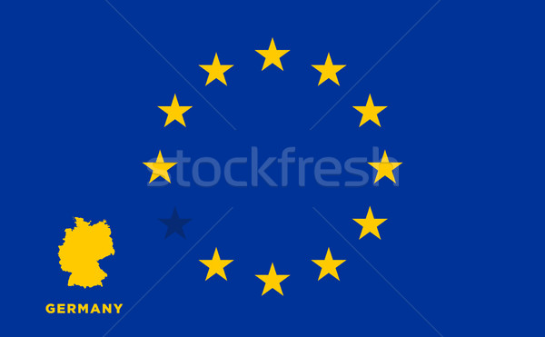 EU flag with Germany country. European Union membership Germany Stock photo © tkacchuk