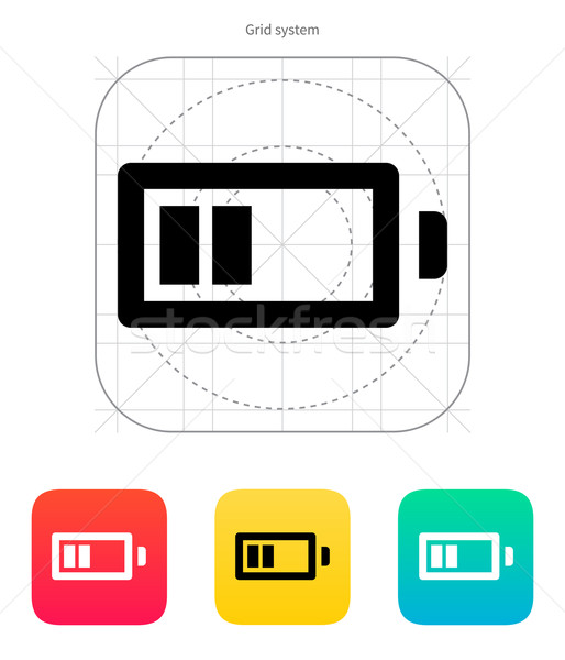 Half charge battery icon. Vector illustration. Stock photo © tkacchuk