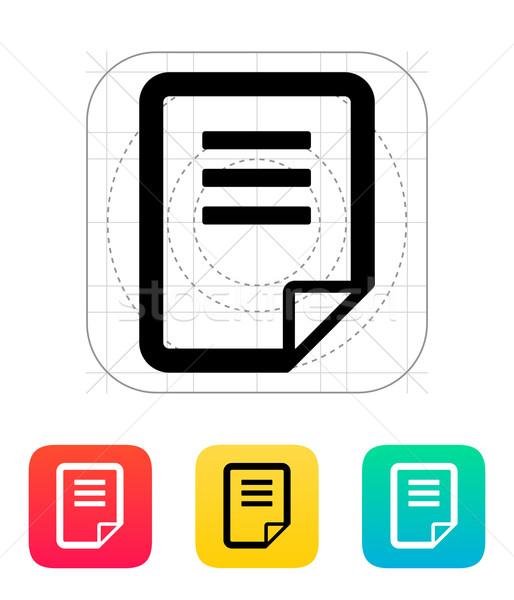 Notepad page flip icon. Stock photo © tkacchuk
