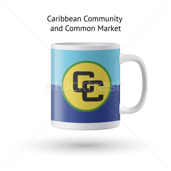 Карибы сообщество рынке флаг сувенир кружка Сток-фото © tkacchuk