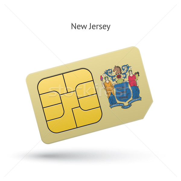State of New Jersey phone sim card with flag. Stock photo © tkacchuk