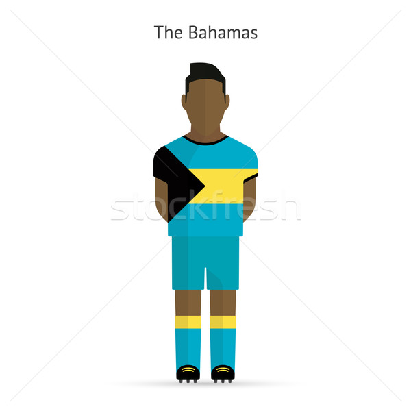 Bahamas football player. Soccer uniform. Stock photo © tkacchuk
