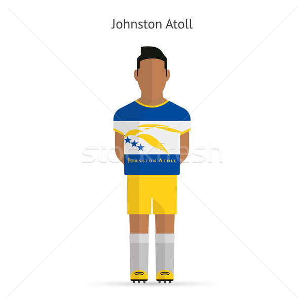 Johnston Atoll football player. Soccer uniform. Stock photo © tkacchuk