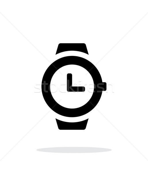 Wristwatch icon on white background. Stock photo © tkacchuk