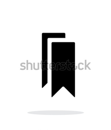 Bookmarks simple icon on white background. Stock photo © tkacchuk