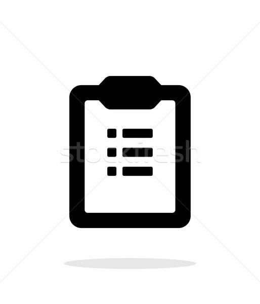 To-do list simple icon on white background. Stock photo © tkacchuk
