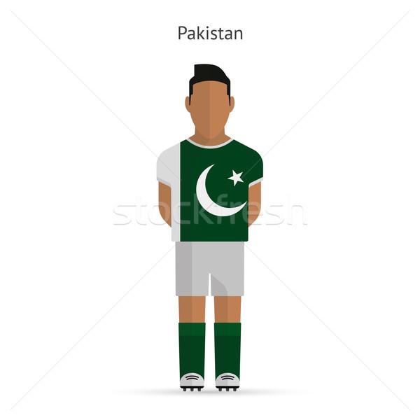 Pakisztán futballista futball egyenruha absztrakt fitnessz Stock fotó © tkacchuk