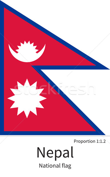 National flag of Nepal with correct proportions, element, colors Stock photo © tkacchuk