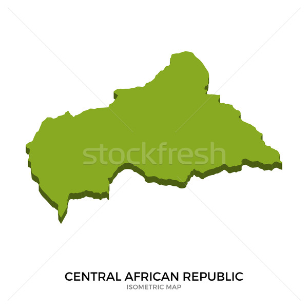 Isometric map of Central African Republic detailed vector illustration Stock photo © tkacchuk