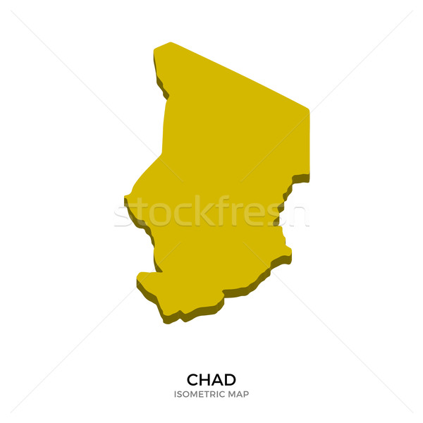Isometric map of Chad detailed vector illustration Stock photo © tkacchuk