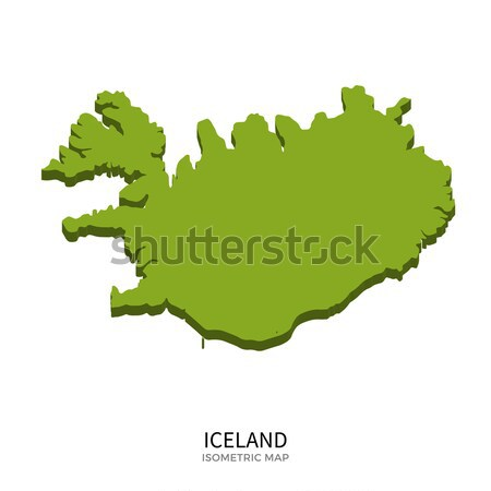 Isometric map of Iceland detailed vector illustration Stock photo © tkacchuk