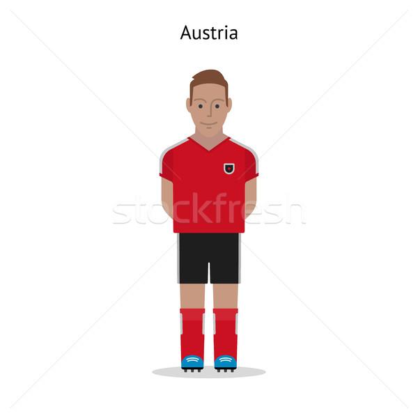 Fútbol Austria futbolista forma deporte Foto stock © tkacchuk