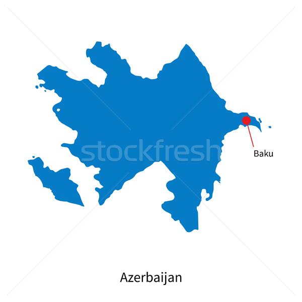 Detallado vector mapa Azerbaiyán ciudad educación Foto stock © tkacchuk