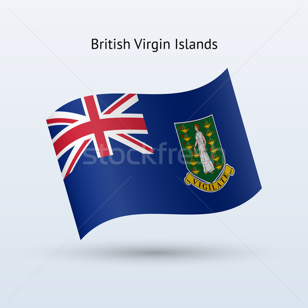 британский Виргинские о-ва флаг форме серый Сток-фото © tkacchuk