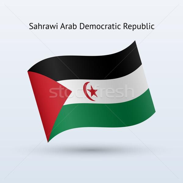 Arap demokratik cumhuriyet bayrak form Stok fotoğraf © tkacchuk