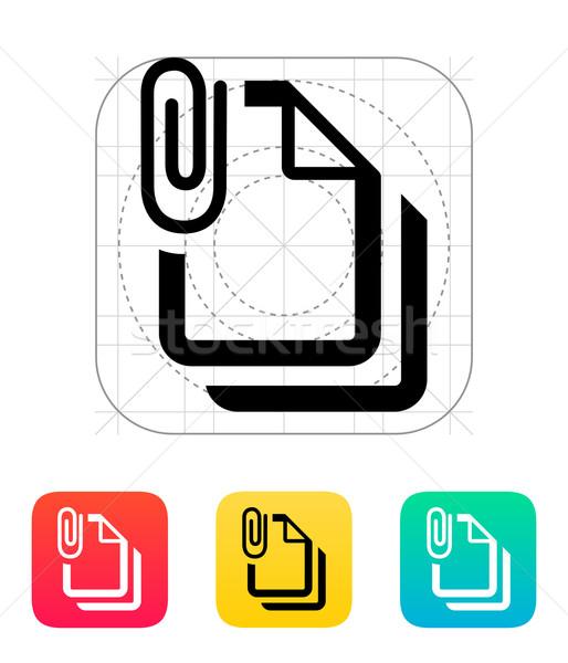 Adjunto archivos icono Internet diseno signo Foto stock © tkacchuk