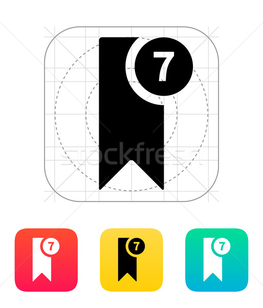 Bookmark with number icon. Stock photo © tkacchuk