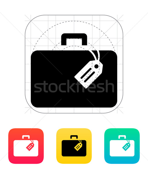 Durum etiket ikon iş çalışmak arka plan Stok fotoğraf © tkacchuk