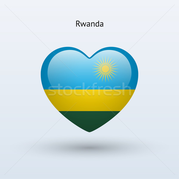 Amour Rwanda symbole coeur pavillon icône Photo stock © tkacchuk