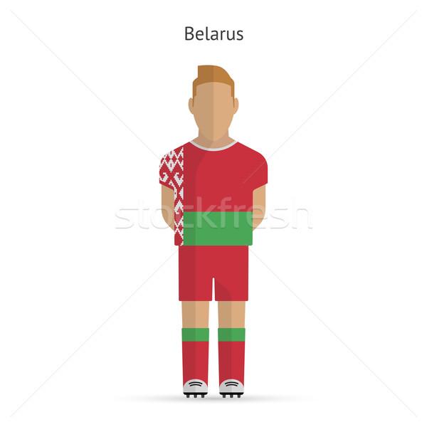 Belarus futbol üniforma soyut uygunluk Stok fotoğraf © tkacchuk