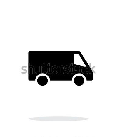 Minibus eenvoudige icon witte business auto Stockfoto © tkacchuk