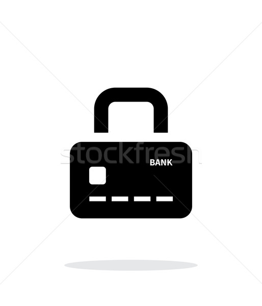 Credit card abstract padlock icon on white background. Secure Payment. Stock photo © tkacchuk