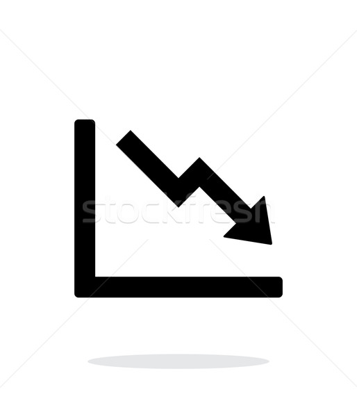 Chart down icon on white background. Stock photo © tkacchuk