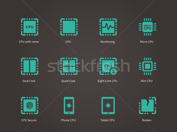 процессор центральный блок телефон сердце Сток-фото © tkacchuk