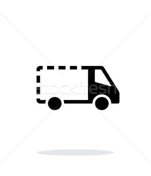 Lege levering minibus icon witte auto Stockfoto © tkacchuk