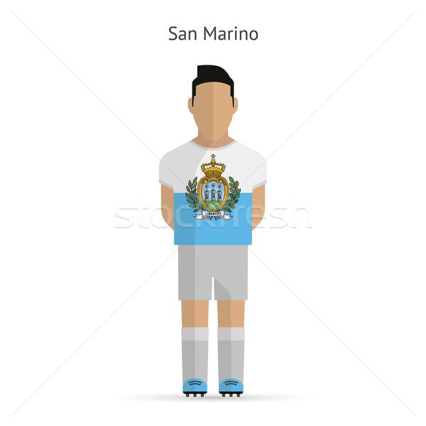 San Marino football player. Soccer uniform. Stock photo © tkacchuk