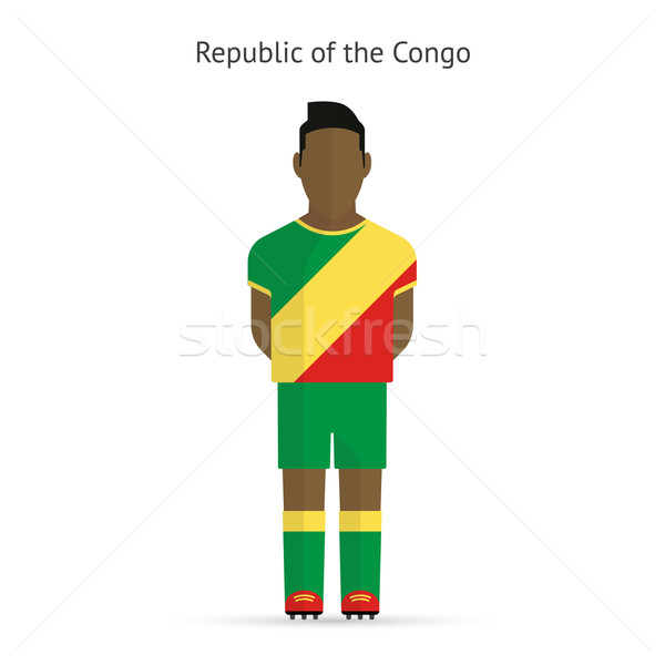Republic of Congo football player. Soccer uniform. Stock photo © tkacchuk