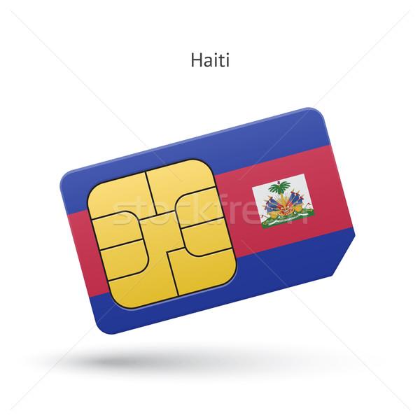 Haiti cellulare carta bandiera business design Foto d'archivio © tkacchuk