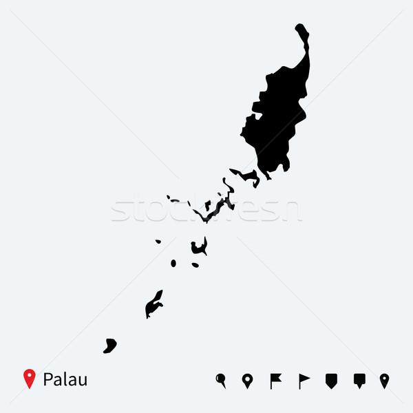 高い 詳しい ベクトル 地図 パラオ ナビゲーション ストックフォト © tkacchuk