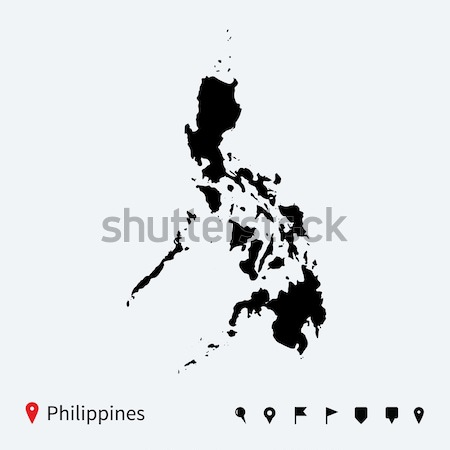 高い 詳しい ベクトル 地図 フィリピン ナビゲーション ストックフォト © tkacchuk