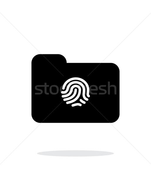 Thumbprint on folder icon on white background. Stock photo © tkacchuk