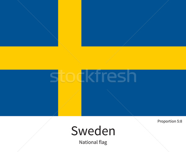 National flag of Sweden with correct proportions, element, colors Stock photo © tkacchuk