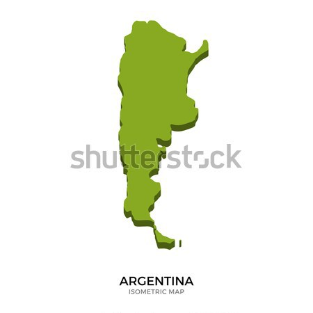 Isometric map of Argentina detailed vector illustration Stock photo © tkacchuk