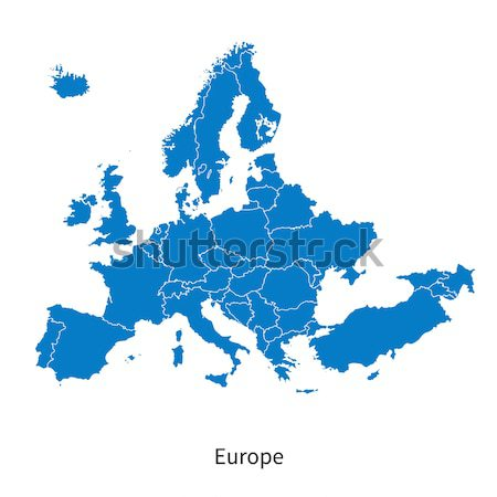 Detailed vector Europe Political map with borders Stock photo © tkacchuk