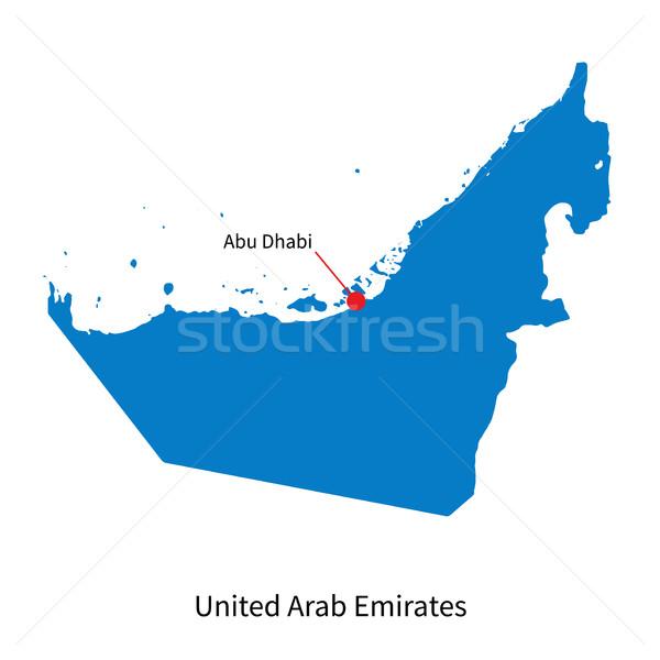 подробный вектора карта Объединенные Арабские Эмираты город Абу-Даби Сток-фото © tkacchuk