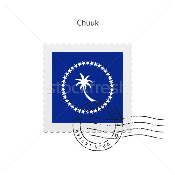 Chuuk Flag Postage Stamp. Stock photo © tkacchuk