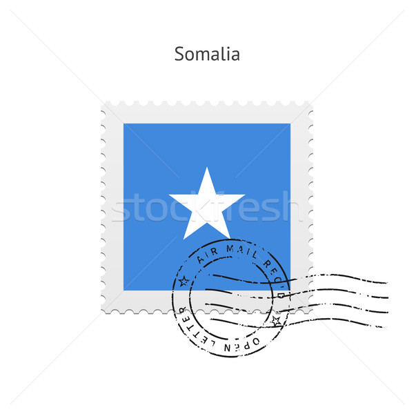 Somalia Flag Postage Stamp. Stock photo © tkacchuk