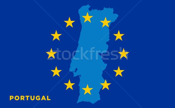 Vlag europese unie vector eu reizen Stockfoto © tkacchuk
