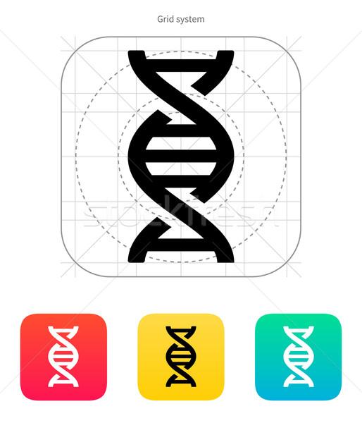 Stock photo: DNA icon. Vector illustration.