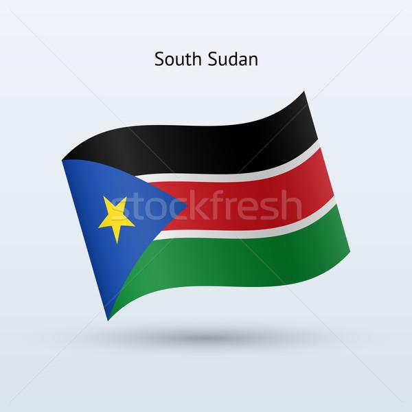 Południe Sudan banderą formularza szary Zdjęcia stock © tkacchuk