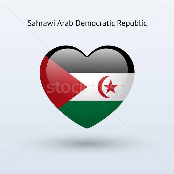 Love Sahrawi Arab Democratic Republic symbol. Heart flag icon. Stock photo © tkacchuk