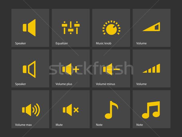 スピーカー アイコン ボリューム 制御 コンピュータ 音楽 ストックフォト © tkacchuk