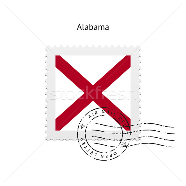 State of Alabama flag postage stamp. Stock photo © tkacchuk