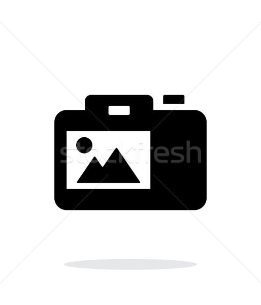 SLR camera simple icon on white background. Stock photo © tkacchuk